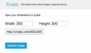 Croply - recortar y dimensionar fotos online