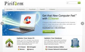 Piriform - una web con un set de utilidades para nuestro PC