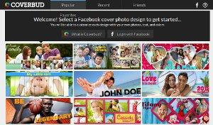 Crear portadas de Facebook personalizadas con Coverbud