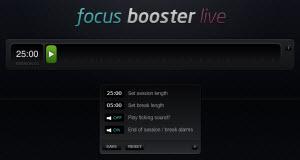 Herramienta online para aumentar tu productividad: Focus Booster Live