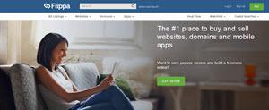 Flippa - comprar y vender sitios web, blogs, dominios y aplicaciones móviles