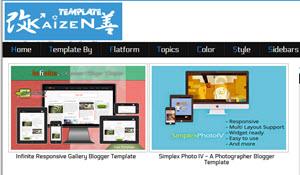 Kaizentemplate - cientos de templates gratuitos para tu blog en Blogger