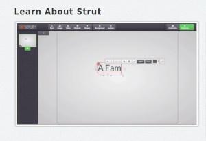 Strut es una aplicación online desde la que podemos crear atrayentes presentaciones online con formato HTML5.