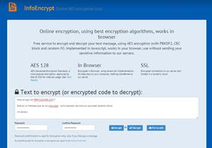 InfoEncrypt, una manera sencilla de encriptar información online