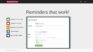 ReminderGuru - herramienta online para agendar todos tus eventos, citas y tareas importantes