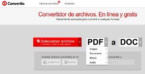 Convertio - convertir archivos entre formatos desde la web sin instalar programas