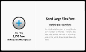 PlusTransfer - enviar archivos de hasta 2.1 GB a través de la web