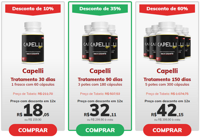Preço do Capelli Hair - Como comprar
