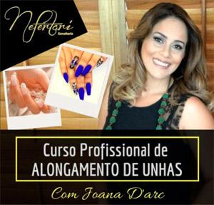 Joana Darc ensina alongamento de unhas no curso online