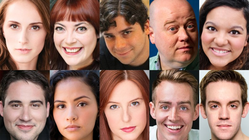 Cast and Design Team Set for HOT PINK, OR READY TO BLOW