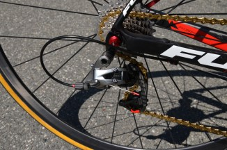 The SRAM Red 22 derailleur can downshift up to 4 cogs at a time