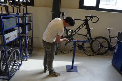 Special care and attention is given to every bike that passe through this floor