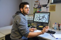 The designers work closely with the product developers to determine the look of the bike