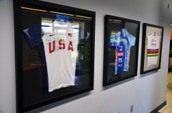 Souvenir jerseys in the lobby