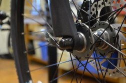 Loose QR skewers can cause a creaking or squeaking sound when riding