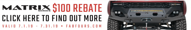 Fab Fours: Get $100 Back on Matrix Series Front Winch Bumpers