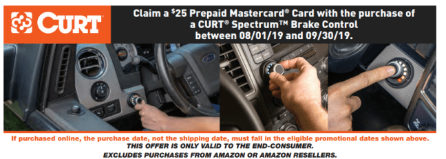 CURT: Get $25 Back on Spectrum Brake Controllers