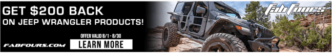 Fab Fours: Get $200 Back on Jeep Wrangler Products