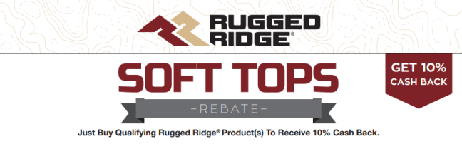 Rugged Ridge: Get 10% Back on Qualifying Soft Top Purchases
