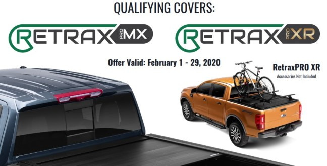 Retrax: Get US$100 or CA$130 Back on RetraxPRO MX or XR Truck Bed Covers