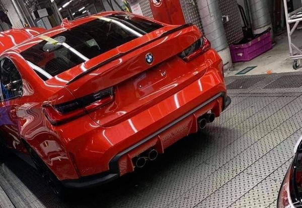 2020 BMW M3 G80 rear end revealed, spied on production line (video) | PerformanceDrive