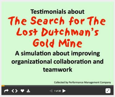 testimonials for Lost Dutchman Gold Mine slideshare