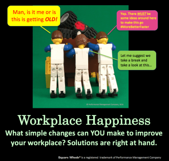 Workplace Happiness and Square Wheels