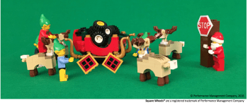 Santa Performance Poem illustration in LEGO by Scott Simmerman