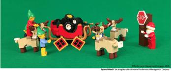Santa Performance Poem illustration in LEGO by Scott Simmerman