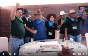 Teambuilding with interactive experiential exercise, Lost Dutchman