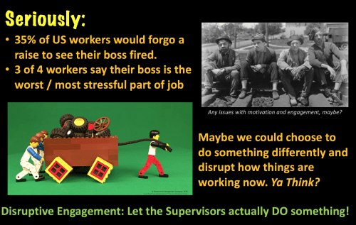 Disruptive Engagement generates motivation and active involvement