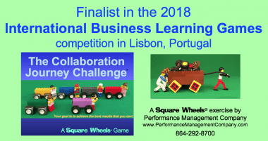 Collaboration Journey Challenge is finalist in International Business Learning Games competition