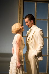 Tobias Batley as Gatsby and Martha Leebolt as Daisy in The Great Gatsby. Photo by Bill Cooper