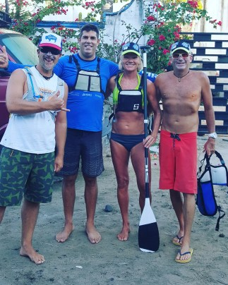 Shane, Mia and friends ready to go SUPing in Punta de Mita