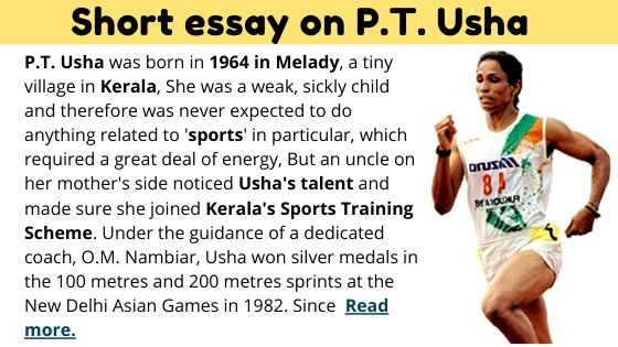 Short essay on PT usha