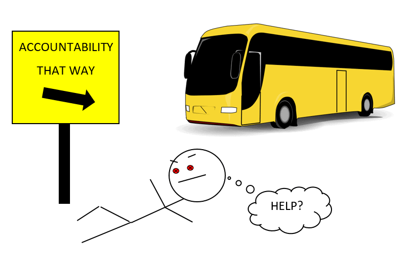 accountability under bus comic