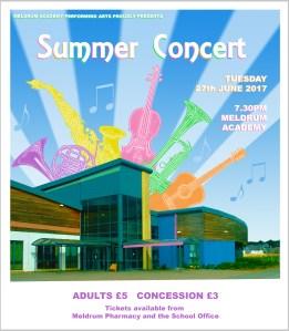 performing arts summer concert poster