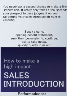 Sales Introduction That Increases Odds of Success to Buyers