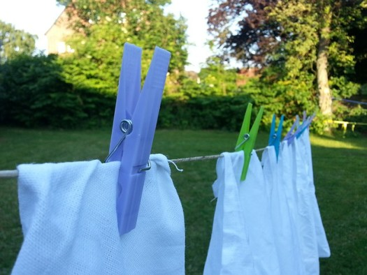 laundry on a washing line