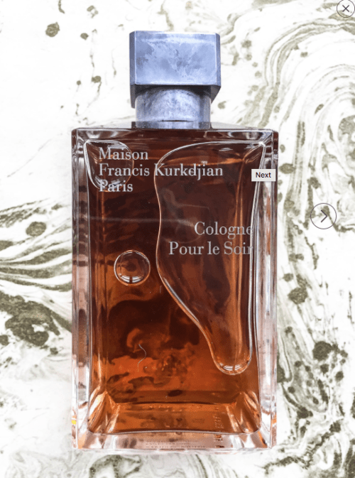 Cologne Pour Le Soir Maison Francis Kurkdjian Arielle Shoshana