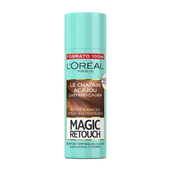 L'OREAL PARIS Magic Retouch Spray Retoca Raíces y Canas Castaño Caoba 100ml