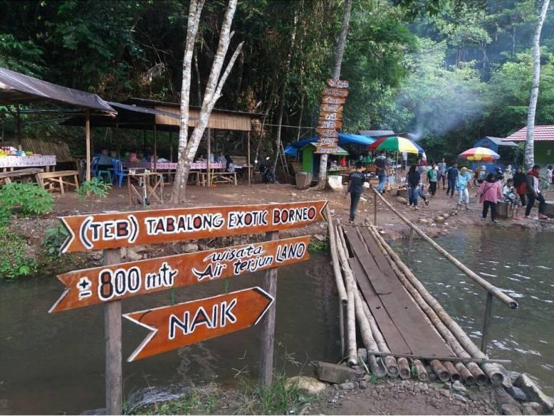 Wisata Air Terjun Lano merupakan salah satu tempat wisata di Tanjung Tabalong via @annisarach_