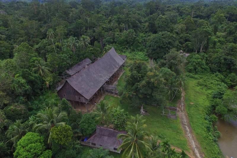 Rumah Betang Tumbang Gagu dibangun pada tahun 1870 via @dayaktd