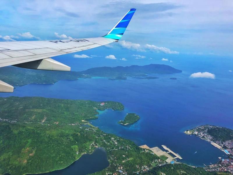 Pulau Sabang terlihat dari Udara. via @riskimameh
