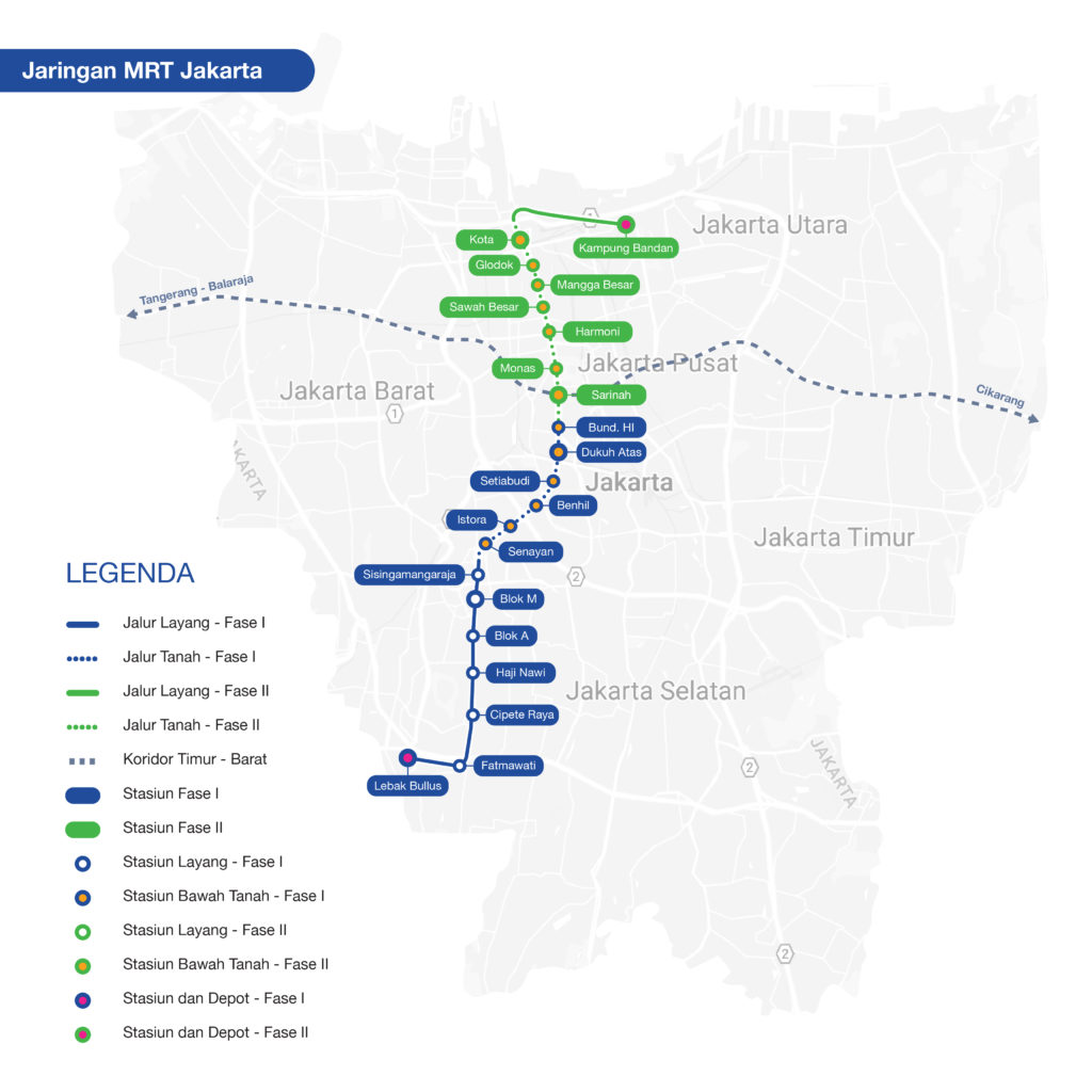 Peta Jalur MRT Jakarta