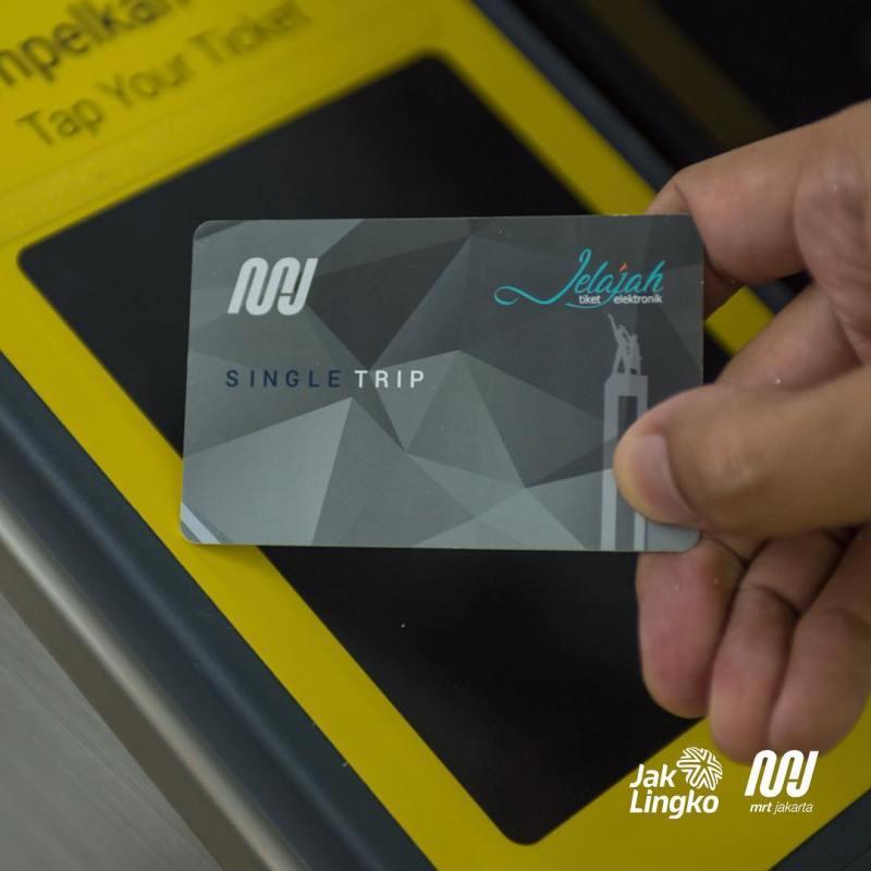 Single Trip Ticket (STT) MRT Jakarta.