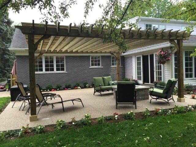 18x20 Pergola Kits Big Kahuna 18x20 Wood Pergola Kit