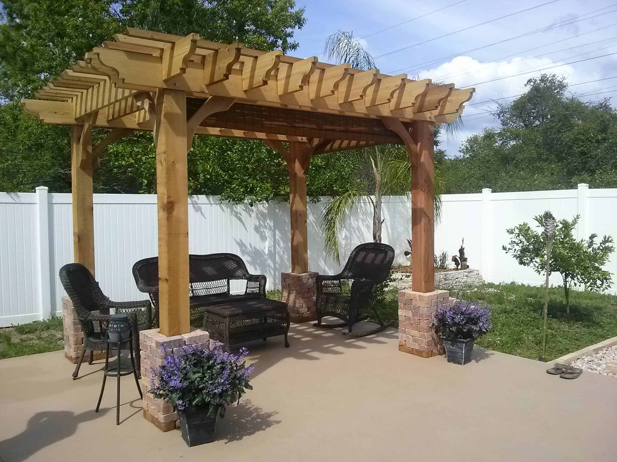 11x11 Pergola Kits Big Kahuna 11x11 Wood Pergola Kit