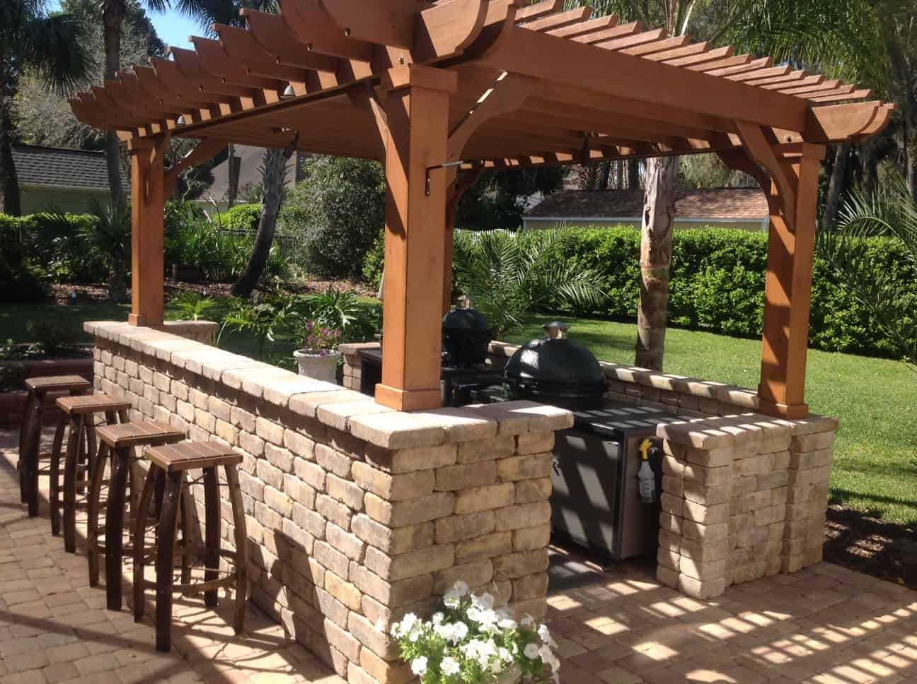 10x20 Pergola Kit Buy Our Big Kahuna 10x20 Wood Pergola