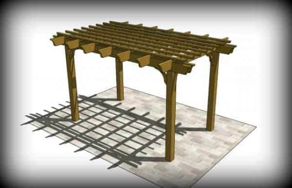 The Sombrero Pergola Kit Pergola Depot
